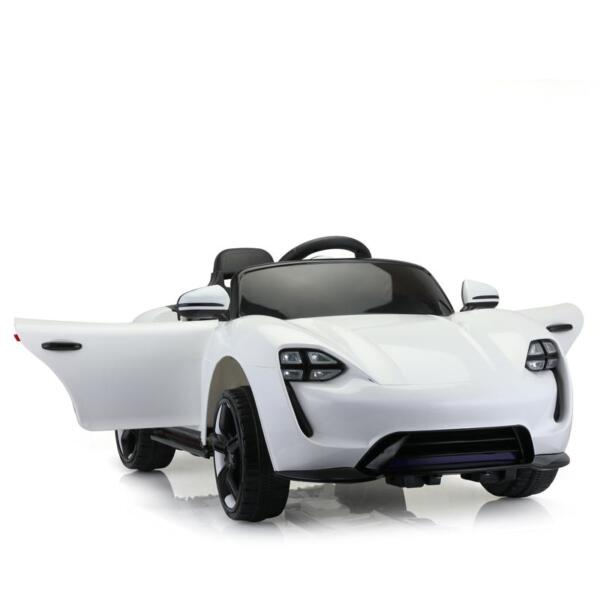 12v Kids Electric Ride On Car with Remote Control, White 12v kids electric ride on car with remote control white 6