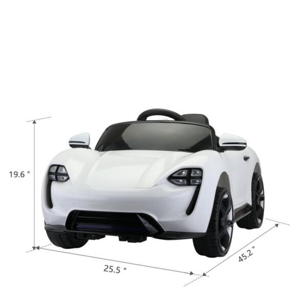 12v Kids Electric Ride On Car with Remote Control, White 12v kids electric ride on car with remote control white 8