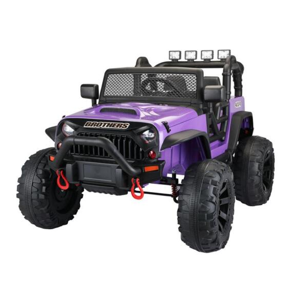 12V Remote Control Ride On Jeep Electric Car for Child 12v kids police ride on truck white 0