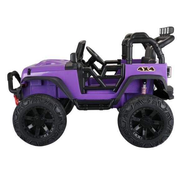 12V Kids Police Ride On Truck, Purple 12v kids police ride on truck white 1