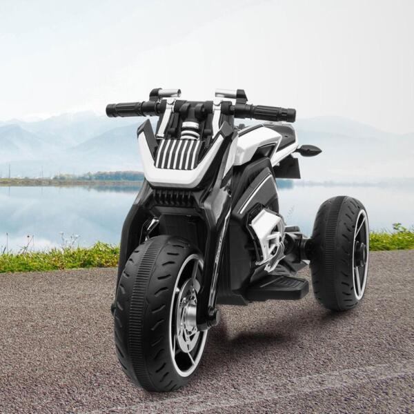 6V Battery Power Ride On Motorcycle for Kids, Black 12v kids police ride on truck white 2 21