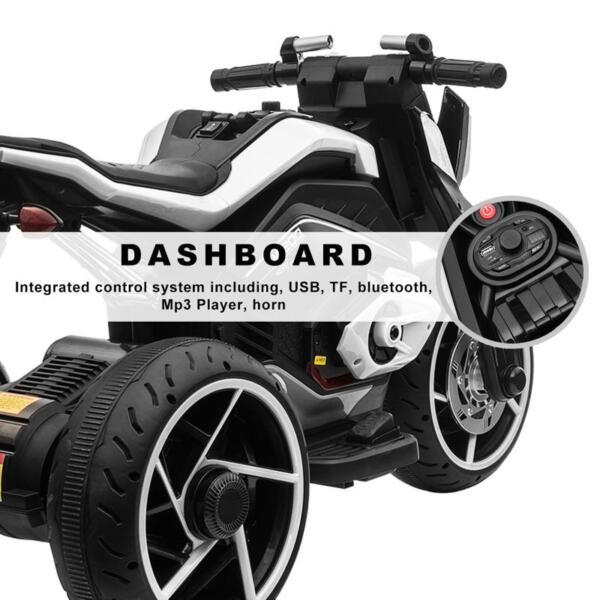 6V Battery Power Ride On Motorcycle for Kids, Black 12v kids police ride on truck white 2 22