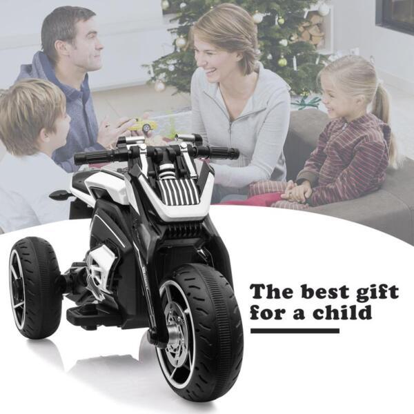 6V Battery Power Ride On Motorcycle for Kids, Black 12v kids police ride on truck white 2 25