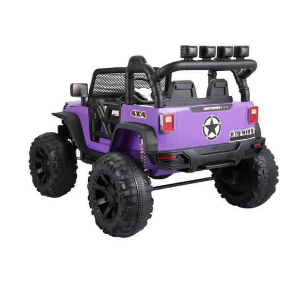 12V Kids Police Ride On Truck, Purple 12v kids police ride on truck white 2