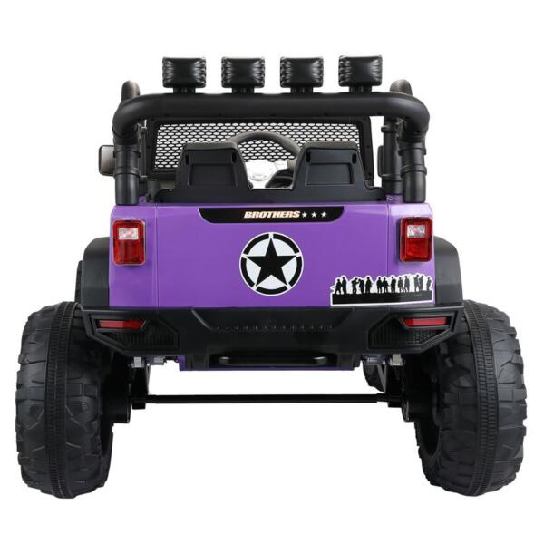 12V Kids Police Ride On Truck, Purple 12v kids police ride on truck white 3