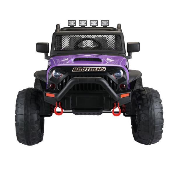 12V Kids Police Ride On Truck, Purple 12v kids police ride on truck white 5