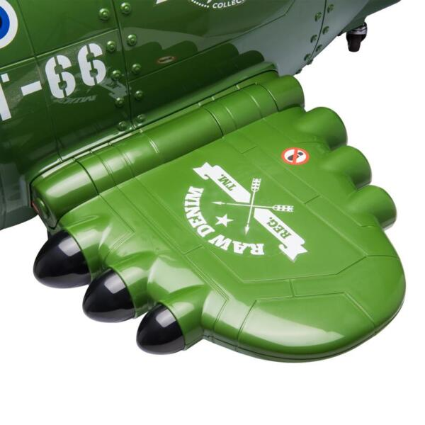 12V Kids Electric Toy Plane Car, Army Green 12v kids ride on airplane army green 21