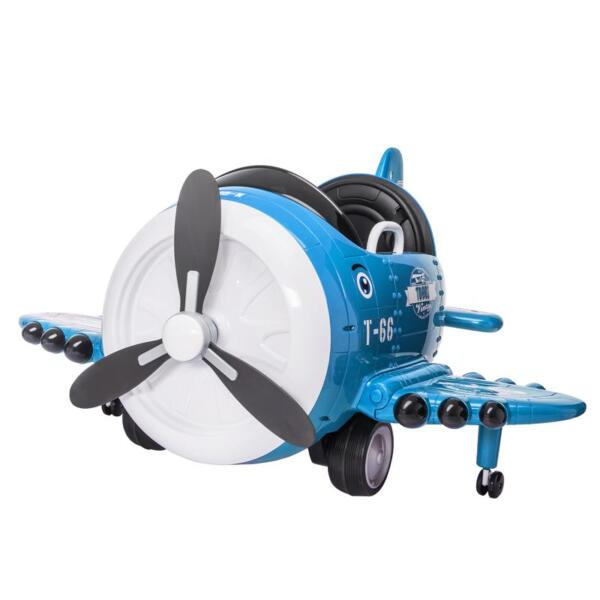 12V Kids Electric Toy Plane Car, Blue 12v kids ride on airplane blue 1