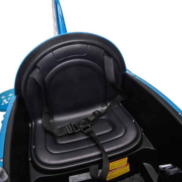 12V Kids Electric Toy Plane Car, Blue 12v kids ride on airplane blue 17