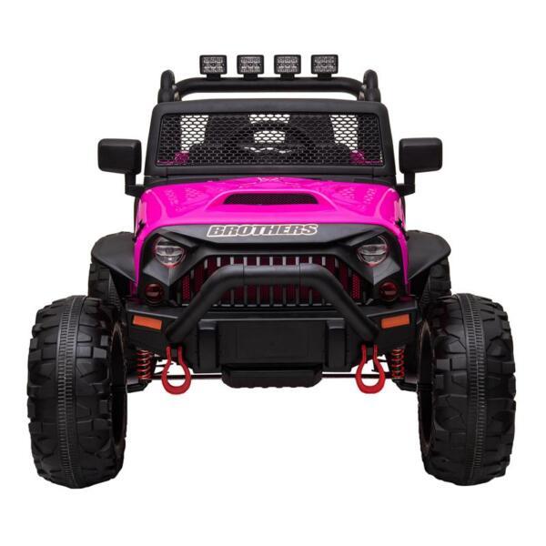 12V Kids Ride On Electric Truck, Rose Red 12v kids ride on electric truck rose red 1 1