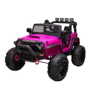 Selling 12v kids ride on electric truck rose red 2 best selling on TOBBI