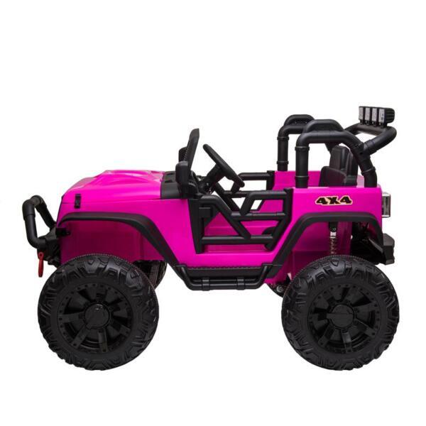 12V Kids Ride On Electric Truck, Rose Red 12v kids ride on electric truck rose red 3