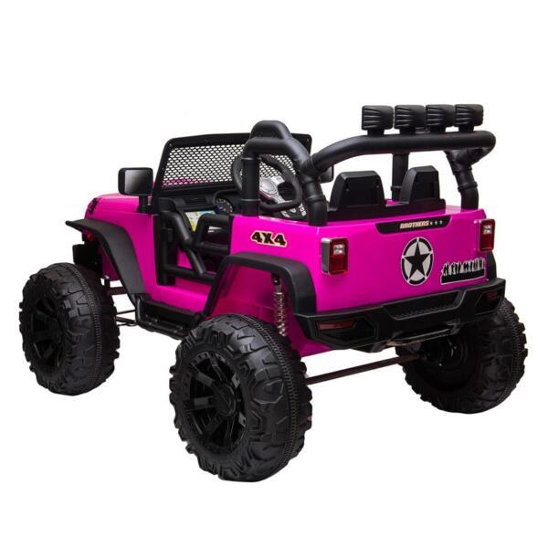 12V Kids Ride On Electric Truck, Rose Red 12v kids ride on electric truck rose red 4 1