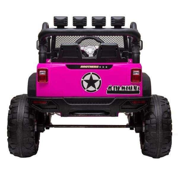 12V Kids Ride On Electric Truck, Rose Red 12v kids ride on electric truck rose red 5