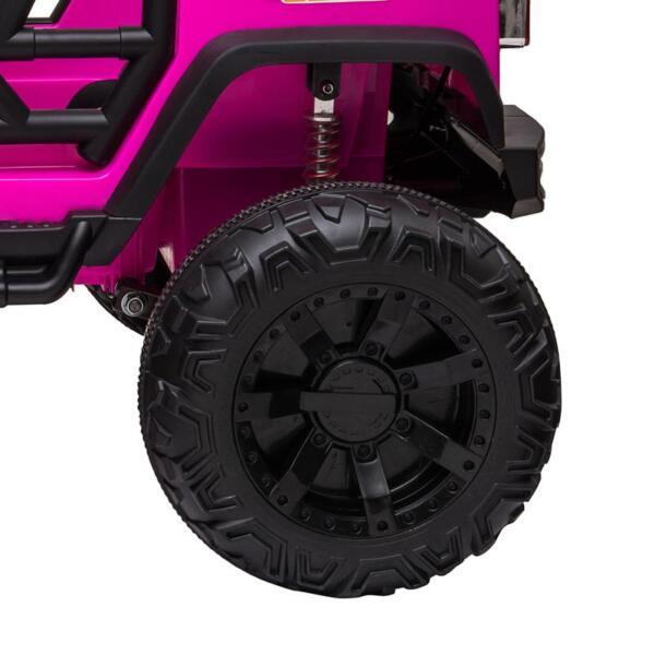 12V Kids Ride On Electric Truck, Rose Red 12v kids ride on electric truck rose red 7 1