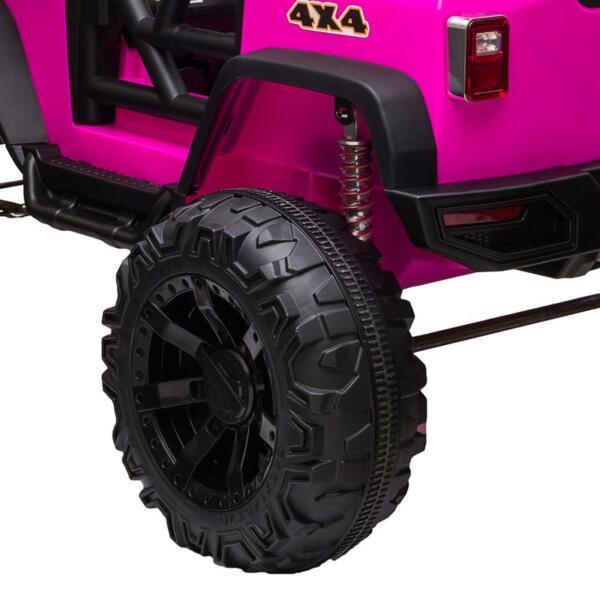 12V Kids Ride On Electric Truck, Rose Red 12v kids ride on electric truck rose red 8