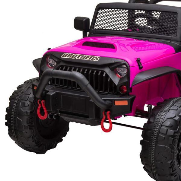 12V Kids Ride On Electric Truck, Rose Red 12v kids ride on electric truck rose red 9 1