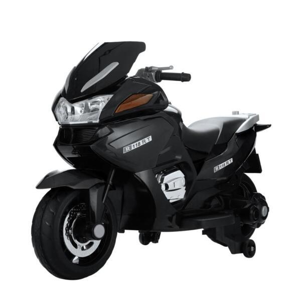 12V Electric Motorcycle for kids, Black 12v kids ride on motorcycle battery powered bike black 2