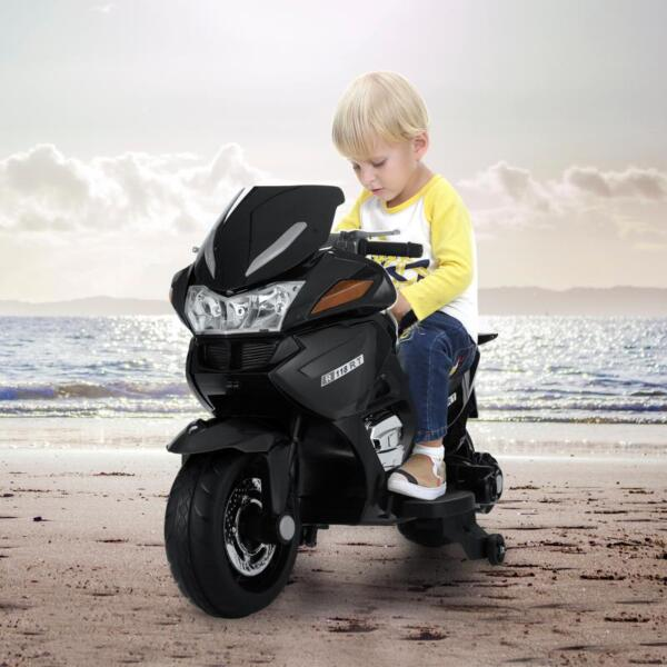 12V Electric Motorcycle for kids, Black 12v kids ride on motorcycle battery powered bike black 21 1