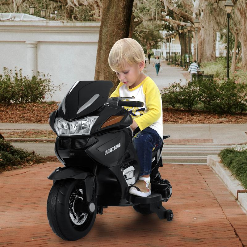 cool black battery powered kids motorcycle attract kids