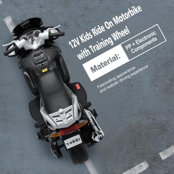 12V Electric Motorcycle for kids, Black 12v kids ride on motorcycle battery powered bike black 26