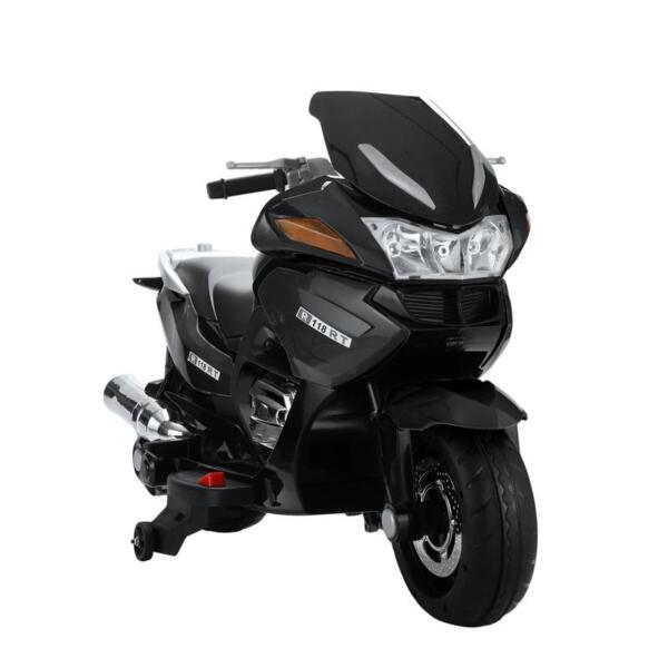 12V Electric Motorcycle for kids, Black 12v kids ride on motorcycle battery powered bike black 5