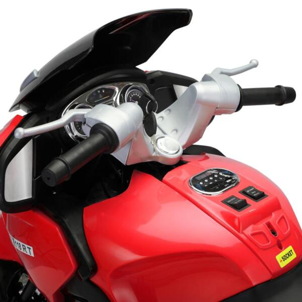 12V Kids Battery Motorcycle for 8 Year Old 12v kids ride on motorcycle battery powered bike red 11