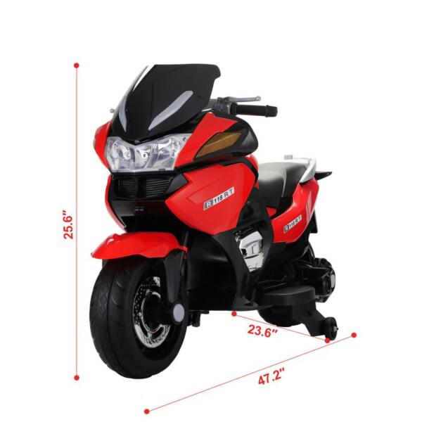 12V Kids Battery Motorcycle for 8 Year Old 12v kids ride on motorcycle battery powered bike red 15
