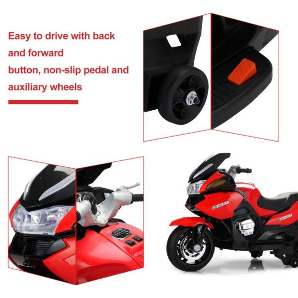 12V Kids Battery Motorcycle for 8 Year Old 12v kids ride on motorcycle battery powered bike red 17 1