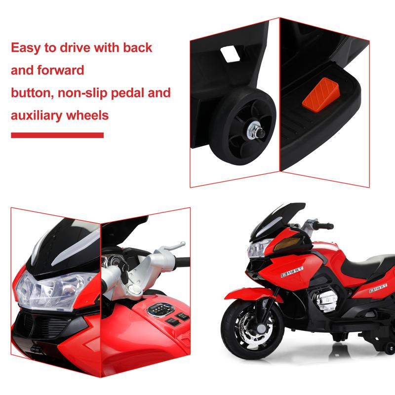 12V Kids Battery Motorcycle for 8 Year Old 12v kids ride on motorcycle battery powered bike red 17 2