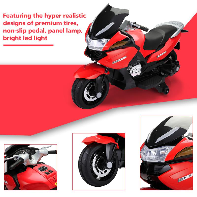 12V Kids Battery Motorcycle for 8 Year Old 12v kids ride on motorcycle battery powered bike red 20 1