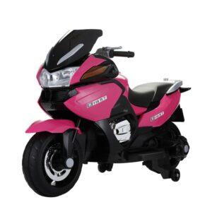 Selling 12v kids ride on motorcycle battery powered bike rose red 4 best selling on TOBBI