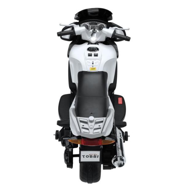 12V Kids Ride on Motorcycle Battery Powered Bike, White 12v kids ride on motorcycle battery powered bike white 7