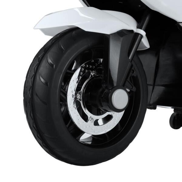 12V Kids Ride on Motorcycle Battery Powered Bike, White 12v kids ride on motorcycle battery powered bike white 9 1