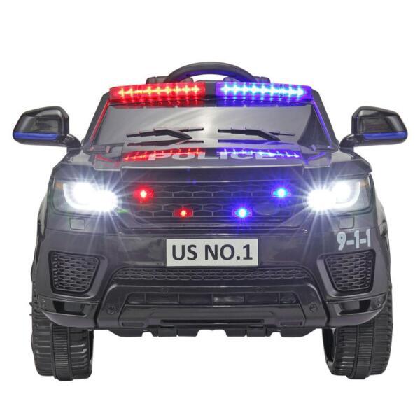 12V Kids Ride On Police Car, Black 12v kids ride on police car black 10