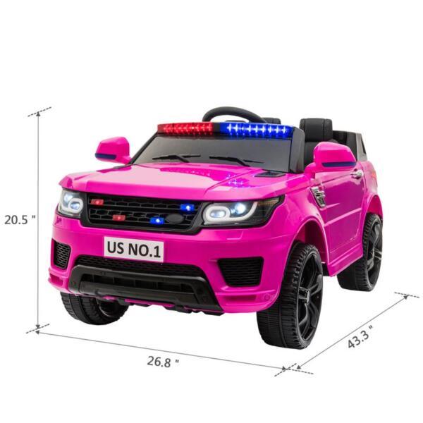 12V Kid's Police Car with Siren 12v kids ride on police car black 2 15