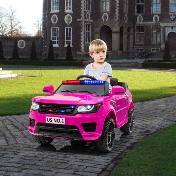 12V Kid's Police Car with Siren 12v kids ride on police car black 2 17