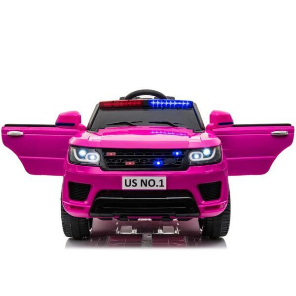 12V Kid's Police Car with Siren 12v kids ride on police car black 2 4