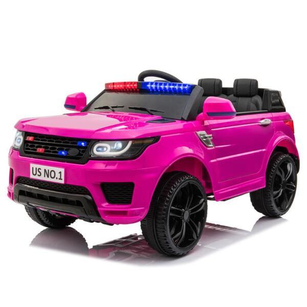 12V Kid's Police Car with Siren 12v kids ride on police car black 2 9