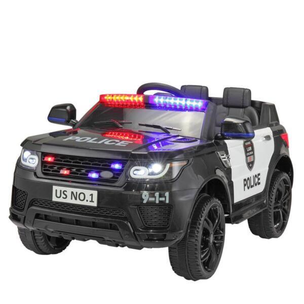 12V Kids Ride On Police Car, Black 12v kids ride on police car black 6
