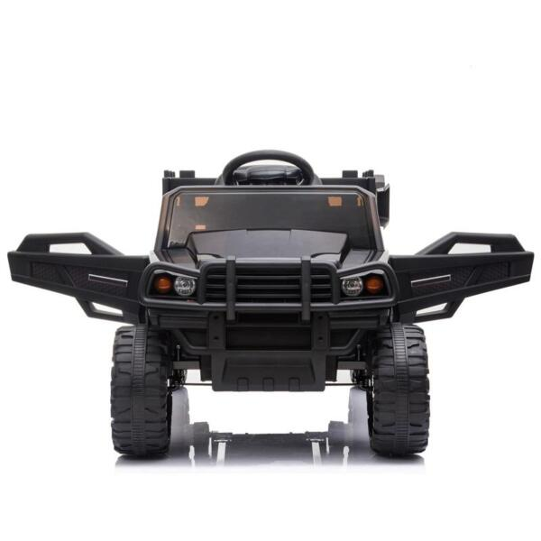 12V Kids Ride on Truck Battery Powered Tractor with Trailer, Black 12v kids ride on truck battery powered tractor with trailer black 4