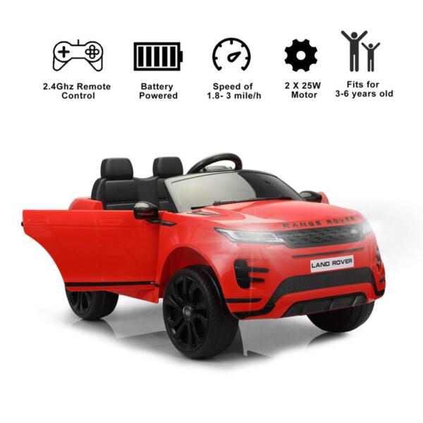 12V Land Rover Ride on SUV Car for Kids, Red 12v land rover ride on suv car for kids red 29