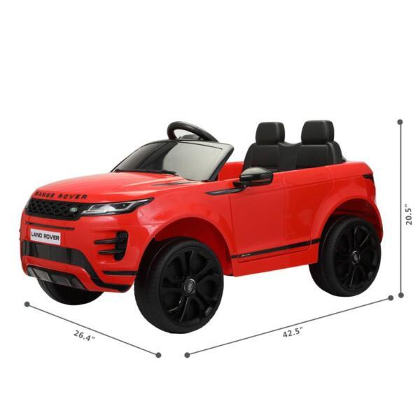 12V Land Rover Ride on SUV Car for Kids, Red 12v land rover ride on suv car for kids red 9 1