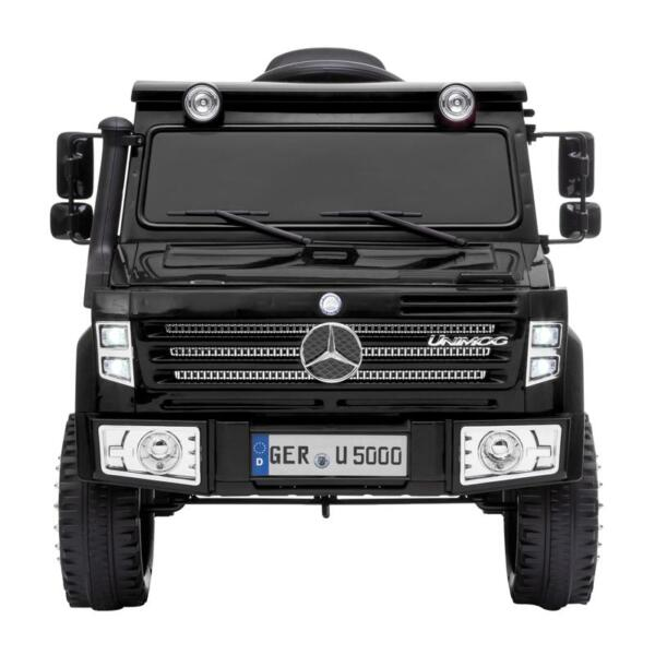 12V Mercedes Benz Unimog U500, Black 12v mercedes benz unimog u500 black 0