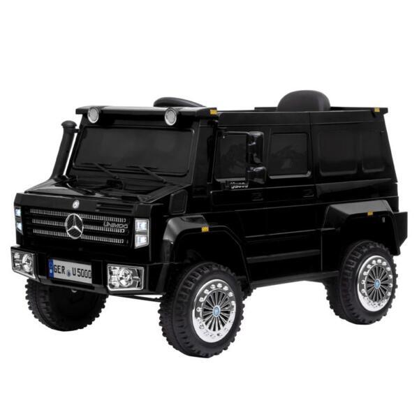 12V Mercedes Benz Unimog U500, Black 12v mercedes benz unimog u500 black 1