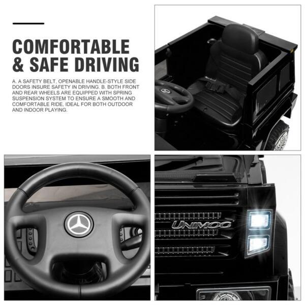 12V Mercedes Benz Unimog U500, Black 12v mercedes benz unimog u500 black 28