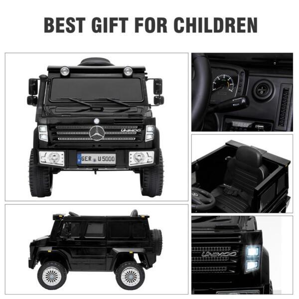 12V Mercedes Benz Unimog U500, Black 12v mercedes benz unimog u500 black 29