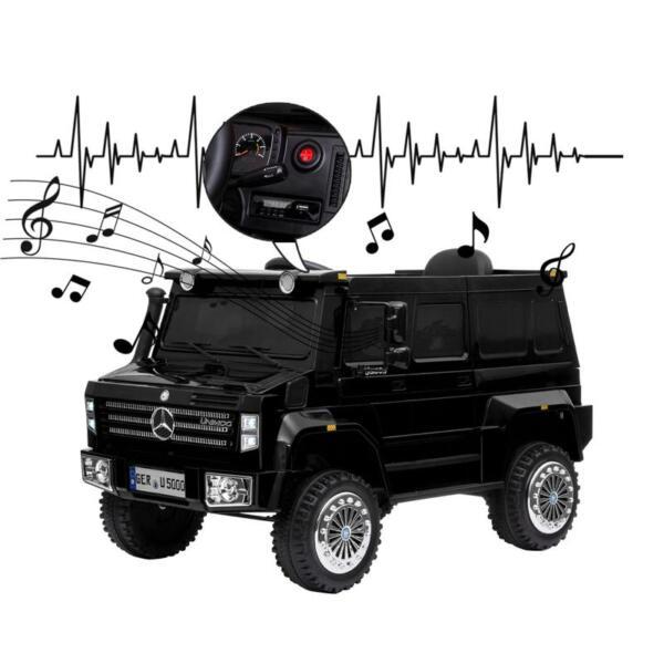 12V Mercedes Benz Unimog U500, Black 12v mercedes benz unimog u500 black 30