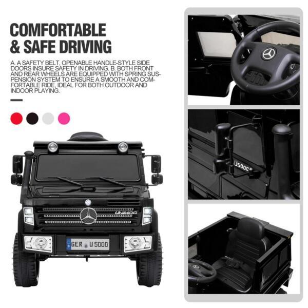 12V Mercedes Benz Unimog U500, Black 12v mercedes benz unimog u500 black 31 1