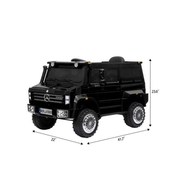 12V Mercedes Benz Unimog U500, Black 12v mercedes benz unimog u500 black 7